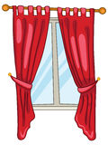 Cartoon Home Window Royalty Free Stock Images