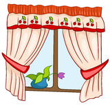 Cartoon Home Window Stock Image