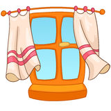 Cartoon Home Window Royalty Free Stock Photography