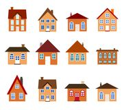 Cartoon homes Stock Image