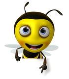 Cartoon honey bee Stock Image