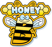 Cartoon Honey Bee Text Royalty Free Stock Image