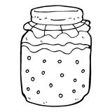 cartoon honey jar Royalty Free Stock Image