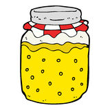cartoon honey jar Royalty Free Stock Image
