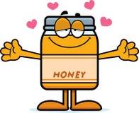 Cartoon Honey Jar Hug Stock Image