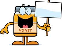 Cartoon Honey Jar Sign Stock Photo