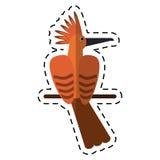 Cartoon hoopoe bird exotic icon Royalty Free Stock Photo
