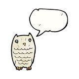cartoon hooting owl Stock Images