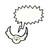 Cartoon hooting owl Stock Photos