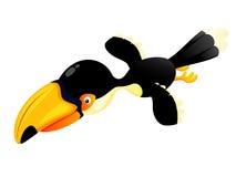 Cartoon hornbill flying Royalty Free Stock Images