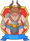 Cartoon horned minotaur Royalty Free Stock Image