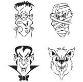 Cartoon Horror Heads Stock Image