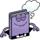Cartoon Horror Novel Dreaming. A cartoon illustration of a horror novel dreaming Royalty Free Stock Image