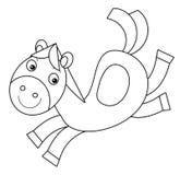 Cartoon horse Stock Image