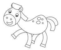 Cartoon horse Royalty Free Stock Photography