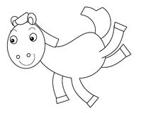 Cartoon horse Royalty Free Stock Images
