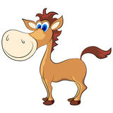 Cartoon horse Stock Photography