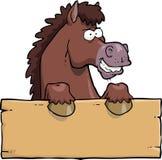 Cartoon horse head Stock Photography