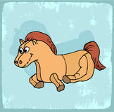 Cartoon horse illustration , vector icon Stock Photos