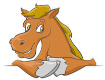 Cartoon Horse Royalty Free Stock Photo