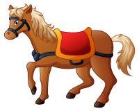 Cartoon horse with saddle. Illustration of Cartoon horse with saddle Royalty Free Stock Image