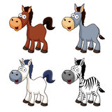 Cartoon horse set Stock Photography