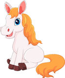 Cartoon horse sitting Royalty Free Stock Photography