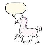 Cartoon horse with speech bubble Stock Photos