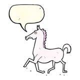 Cartoon horse with speech bubble Stock Photography