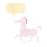 Cartoon horse with speech bubble Royalty Free Stock Photo