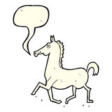 Cartoon horse with speech bubble Royalty Free Stock Image