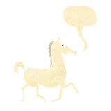 Cartoon horse with speech bubble Royalty Free Stock Images