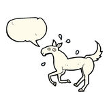 Cartoon horse sweating with speech bubble Royalty Free Stock Images