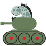 Cartoon horse in tank 011 Royalty Free Stock Images