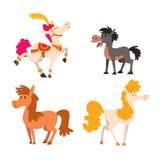 Cartoon horse vector character. Cartoon horse on white background character. Cartoon horse vector. Cute cartoon horse farm animals happy mane stallion character Royalty Free Stock Photography