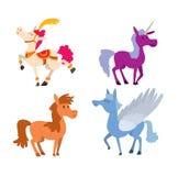 Cartoon horse vector character Stock Image