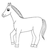 Cartoon horse vector isolated Royalty Free Stock Photo