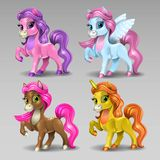 Cartoon horses Stock Images