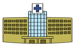 Cartoon Hospital Stock Image