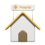 Cartoon hospital Royalty Free Stock Photo