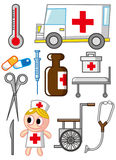 Cartoon Hospital icon. Vector drawing Royalty Free Stock Images