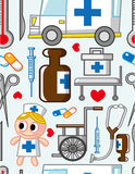 Cartoon Hospital icon. Vector drawing Royalty Free Stock Image