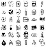 Cartoon hospital icon. Vector drawing Stock Photography