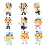 Cartoon hospital icon Royalty Free Stock Images