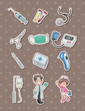 Cartoon hospital stickers Royalty Free Stock Photo