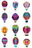 Cartoon hot air balloon icon. Vector drawing Royalty Free Stock Photo