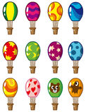 Cartoon hot air balloon icon Royalty Free Stock Photo