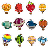 Cartoon hot air balloon icon Royalty Free Stock Photography