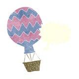 Cartoon hot air balloon with speech bubble Stock Photography