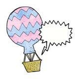 Cartoon hot air balloon with speech bubble Royalty Free Stock Photos